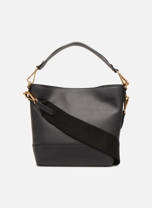 Handtaschen Polo Ralph Lauren SULLIVAN SQ BCKT HOBO S schwarz ansicht von vorne