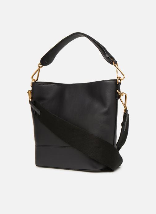 Handtaschen Polo Ralph Lauren SULLIVAN SQ BCKT HOBO S schwarz ansicht von rechts