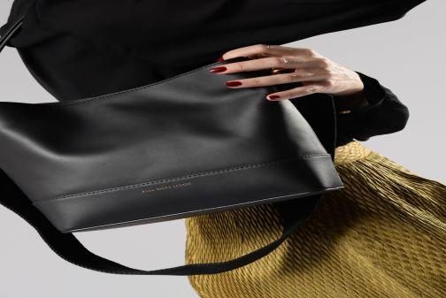 Handväskor Polo Ralph Lauren SULLIVAN SQ BCKT HOBO S Svart bild från ovan