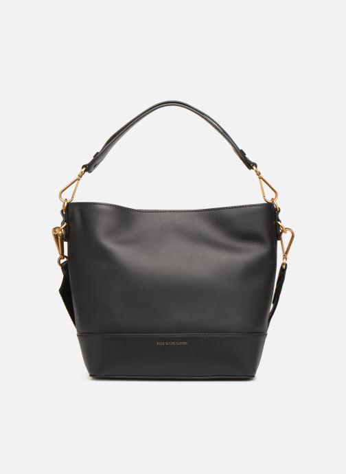 Handväskor Polo Ralph Lauren SULLIVAN SQ BCKT HOBO S Svart detaljerad bild på paret