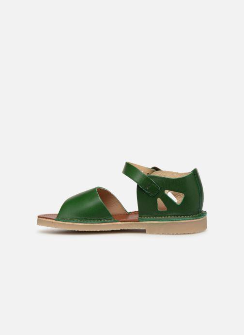 Sandalen Young Soles Mavis grün ansicht von vorne