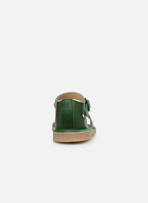 Sandalen Young Soles Mavis grün ansicht von rechts