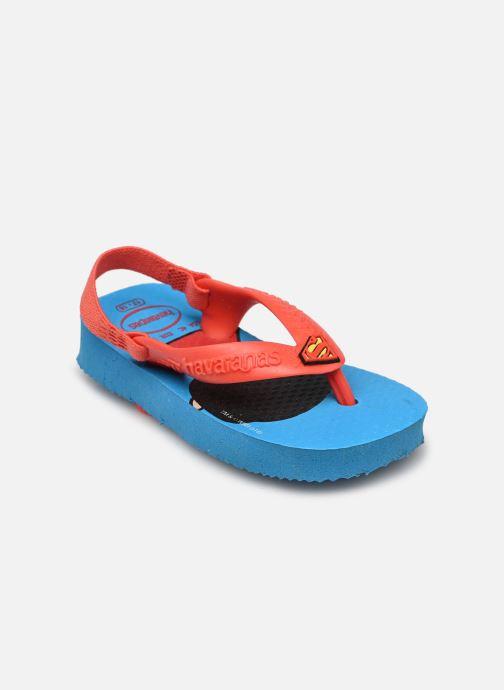 Tongs Havaianas Baby Herois Bleu vue portées chaussures