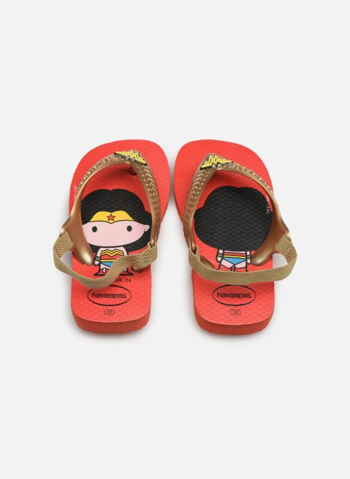 Tongs Havaianas Baby Herois Rouge vue portées chaussures