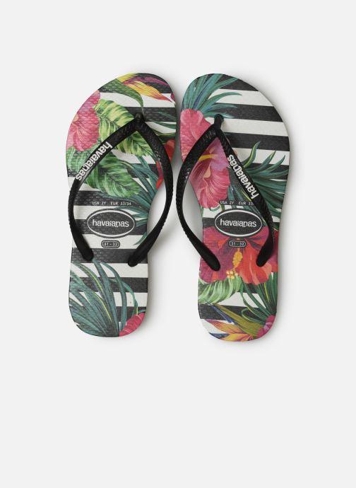 Tongs Havaianas Slim Tropical Floral E Multicolore vue portées chaussures