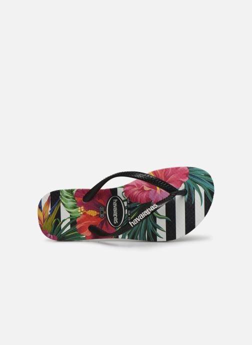 Tongs Havaianas Slim Tropical Floral E Multicolore vue gauche