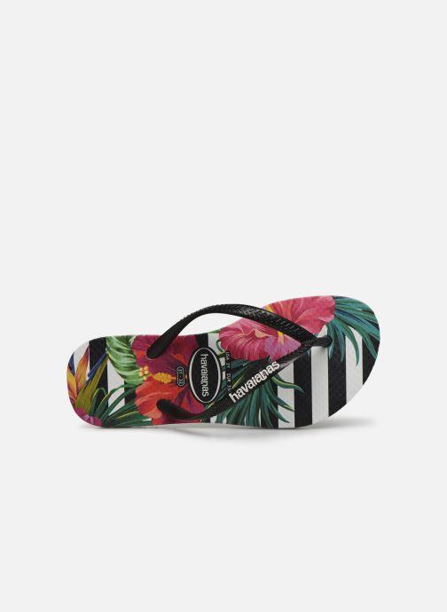 Zehensandalen Havaianas Slim Tropical Floral E mehrfarbig ansicht von links