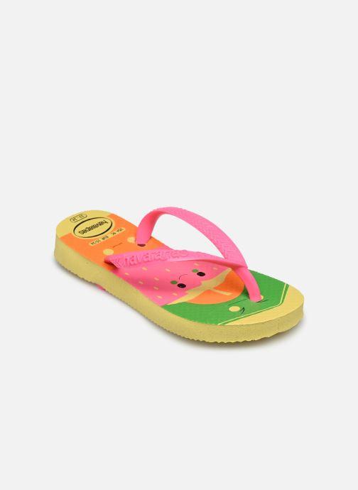 Tongs Havaianas Kids Slim Fun Multicolore vue portées chaussures