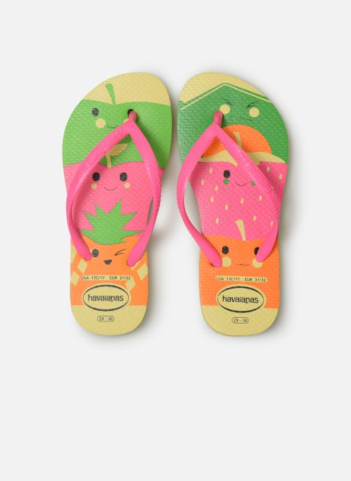 Infradito Havaianas Kids Slim Fun Multicolore modello indossato