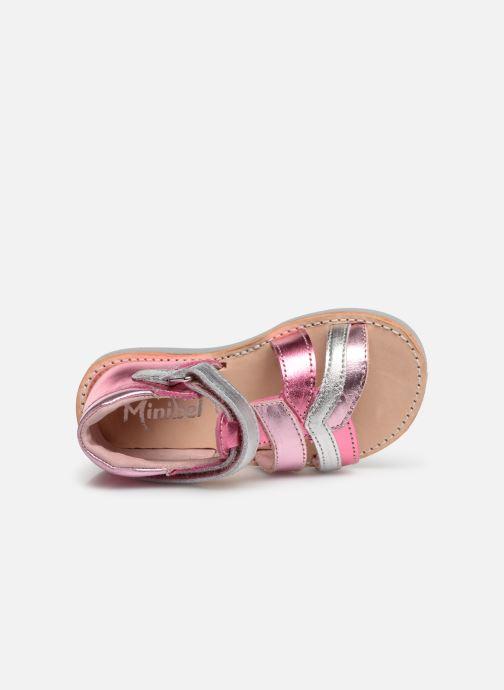 Sandales et nu-pieds Minibel Sechic Rose vue gauche
