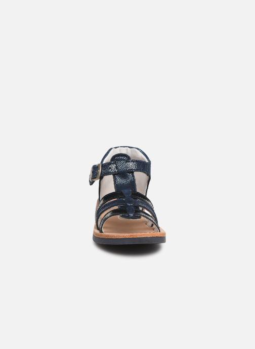Sandales et nu-pieds Minibel Seglaet Bleu vue portées chaussures