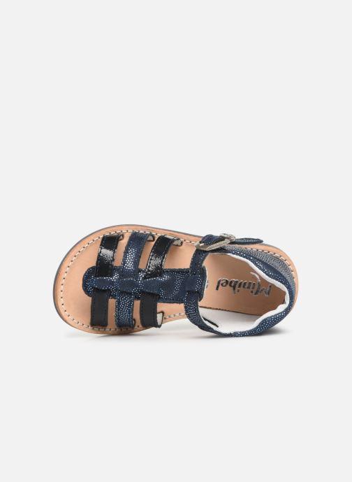 Sandalias Minibel Seglaet Azul vista lateral izquierda