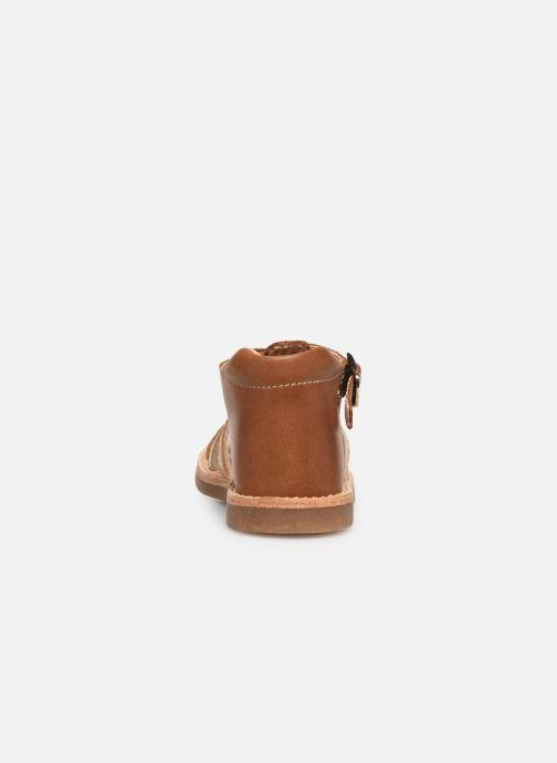 Sandales et nu-pieds Minibel Seglaet Marron vue droite