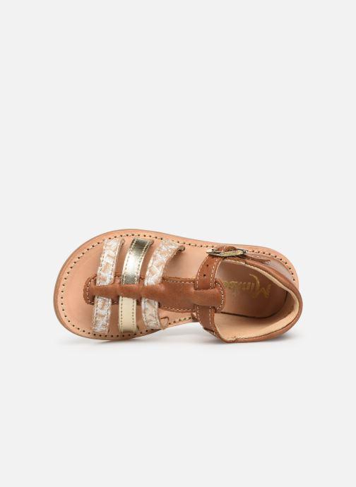 Sandales et nu-pieds Minibel Seglaet Marron vue gauche