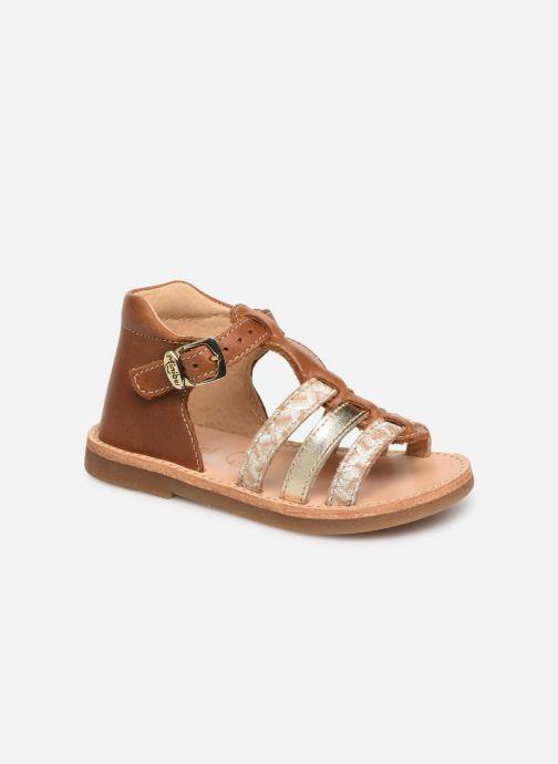 Sandales et nu-pieds Minibel Seglaet Marron vue détail/paire
