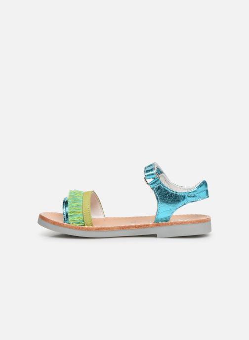 Sandalias Minibel Soriany Azul vista de frente