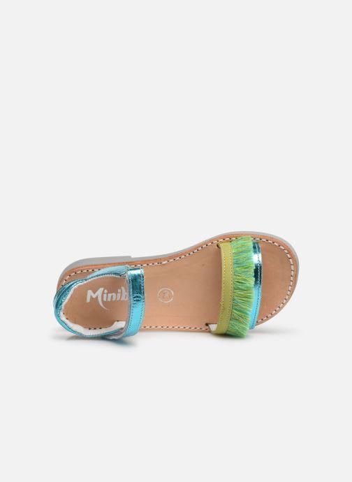 Sandalias Minibel Soriany Azul vista lateral izquierda