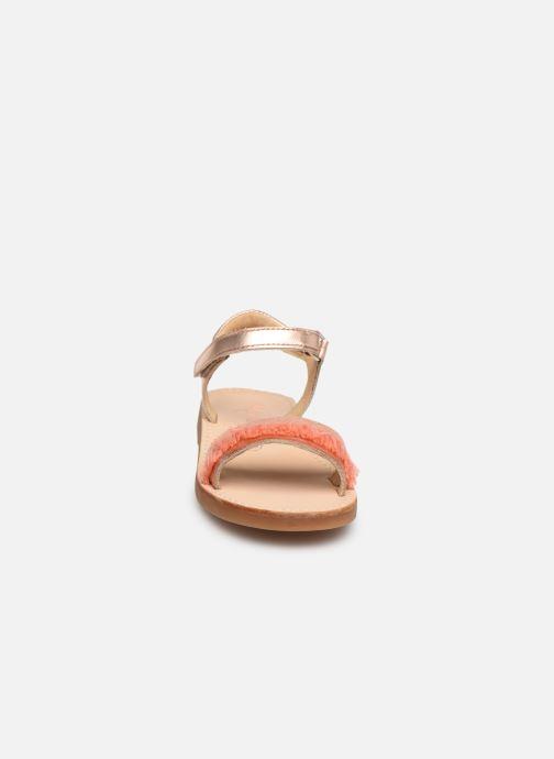 Sandales et nu-pieds Minibel Soriany Or et bronze vue portées chaussures