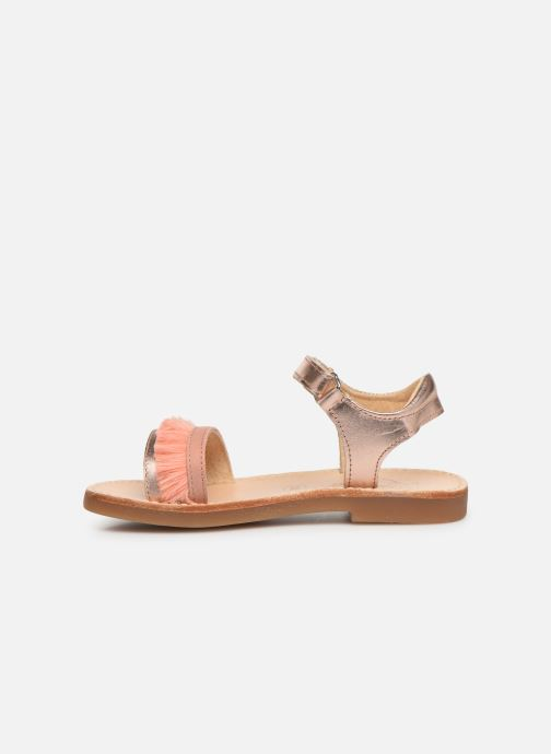 Sandales et nu-pieds Minibel Soriany Or et bronze vue face