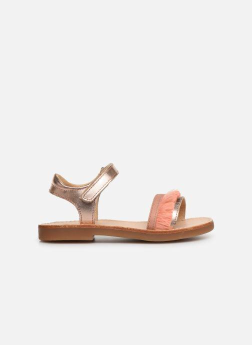 Sandales et nu-pieds Minibel Soriany Or et bronze vue derrière