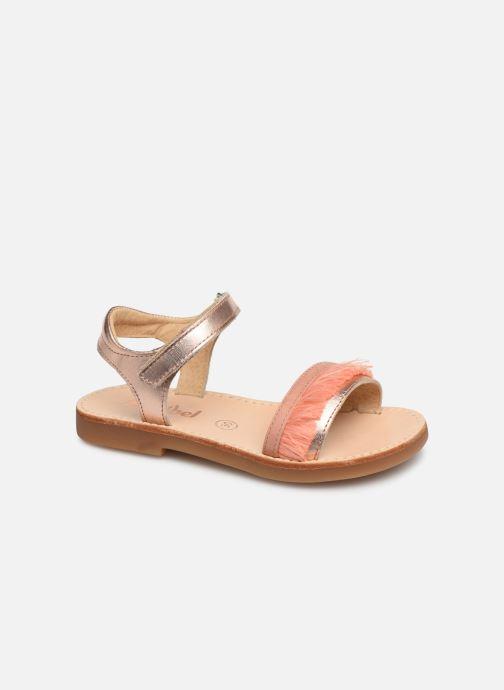 Sandales et nu-pieds Minibel Soriany Or et bronze vue détail/paire