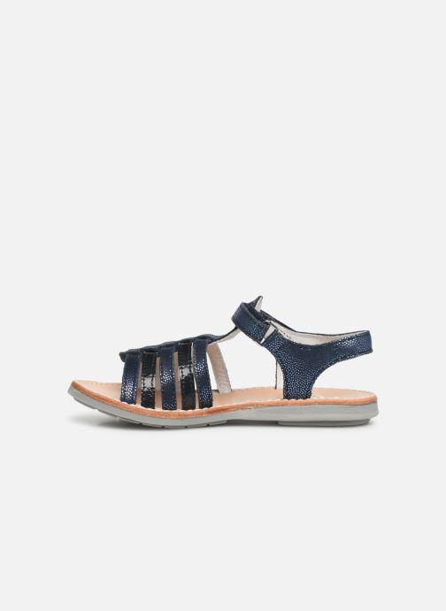 Sandales et nu-pieds Minibel Paris Bleu vue face
