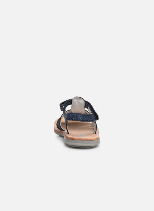 Sandales et nu-pieds Minibel Paris Bleu vue droite