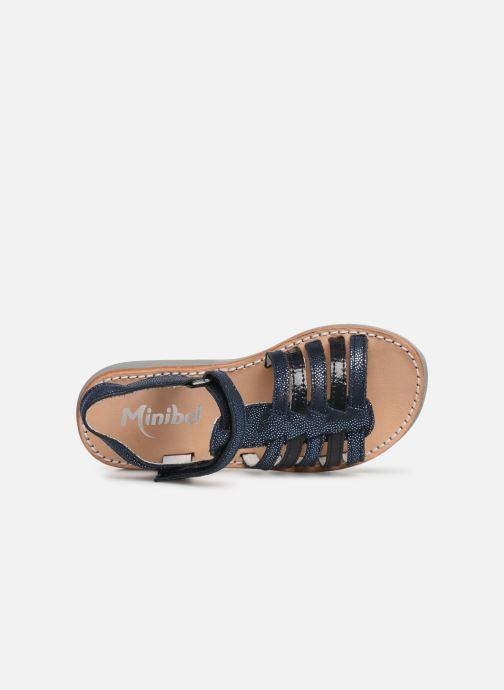 Sandales et nu-pieds Minibel Paris Bleu vue gauche