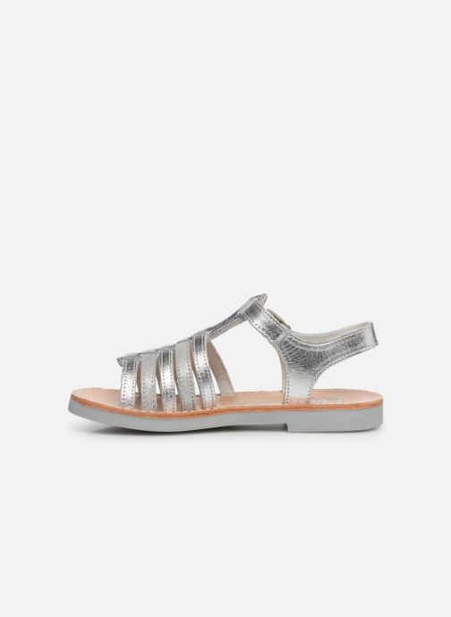 Sandals Minibel Separis Silver front view