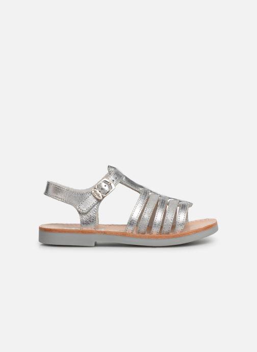 Sandalen Minibel Separis Zilver achterkant