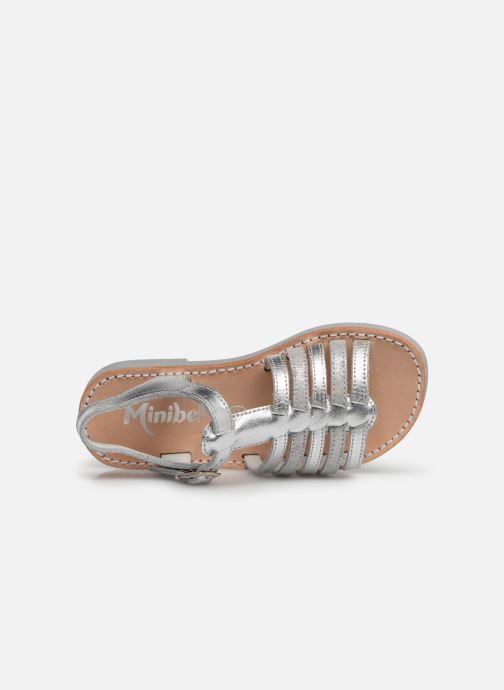 Sandalias Minibel Separis Plateado vista lateral izquierda
