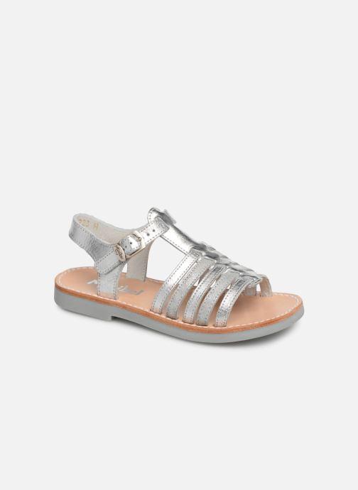 Sandaler Minibel Separis Sølv detaljeret billede af skoene