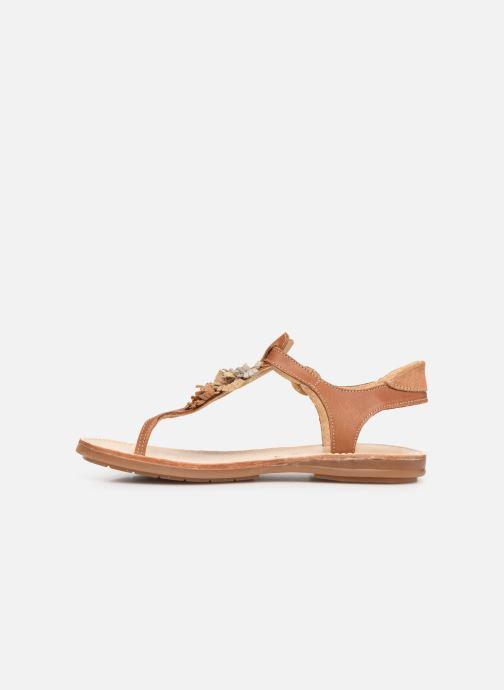 Sandalen Minibel Solimane braun ansicht von vorne