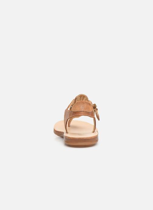 Sandalen Minibel Solimane braun ansicht von rechts