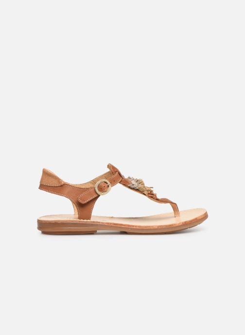 Sandalen Minibel Solimane braun ansicht von hinten