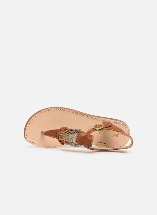 Sandalen Minibel Solimane braun ansicht von links