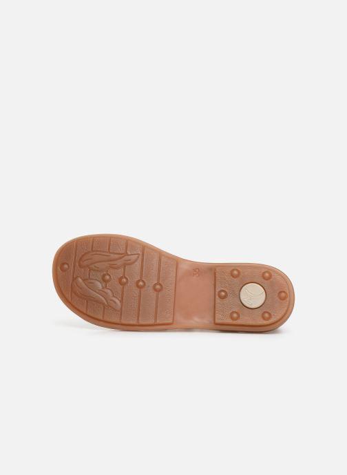 Sandalen Minibel Solimane braun ansicht von oben