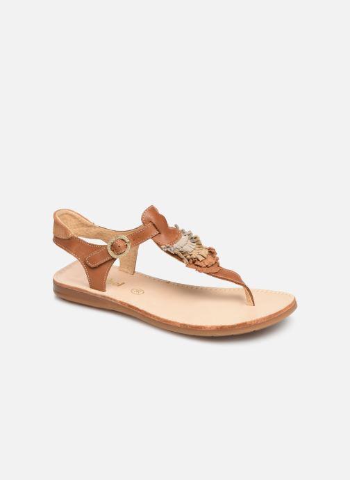 Sandales et nu-pieds Minibel Solimane Marron vue détail/paire