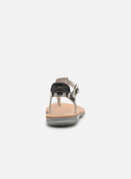 Sandalias Minibel Solimane Plateado vista lateral derecha