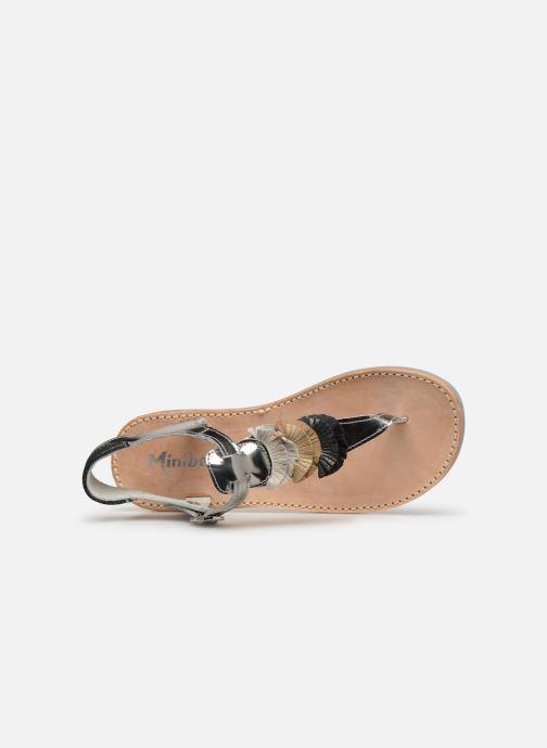 Sandalias Minibel Solimane Plateado vista lateral izquierda