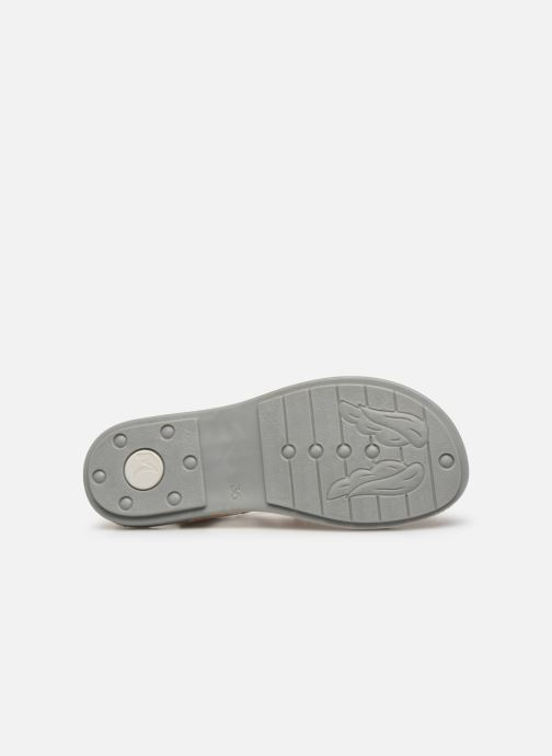 Sandales et nu-pieds Minibel Solimane Argent vue haut
