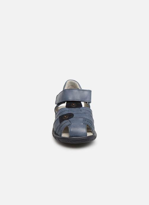Sandales et nu-pieds Minibel Storm Bleu vue portées chaussures