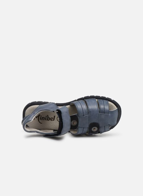Sandales et nu-pieds Minibel Storm Bleu vue gauche