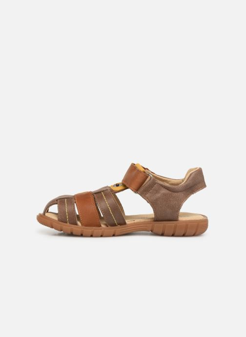 Sandales et nu-pieds Minibel Storm Marron vue face