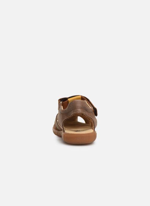 Sandales et nu-pieds Minibel Storm Marron vue droite