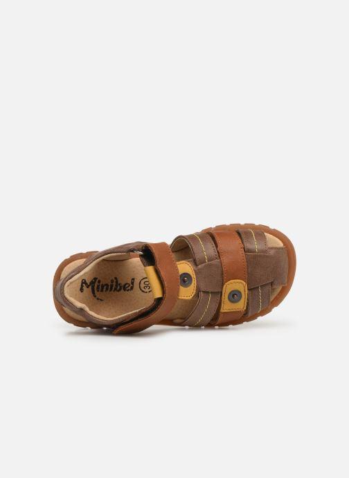 Sandales et nu-pieds Minibel Storm Marron vue gauche