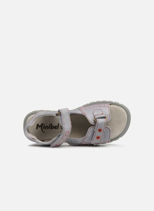 Sandalen Minibel Story Grijs links