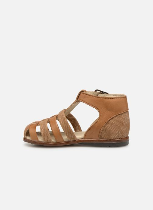 Sandales et nu-pieds Little Mary Delta Marron vue face
