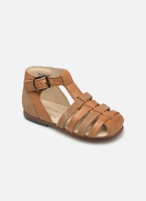 Sandals Little Mary Delta Brown detailed view/ Pair view