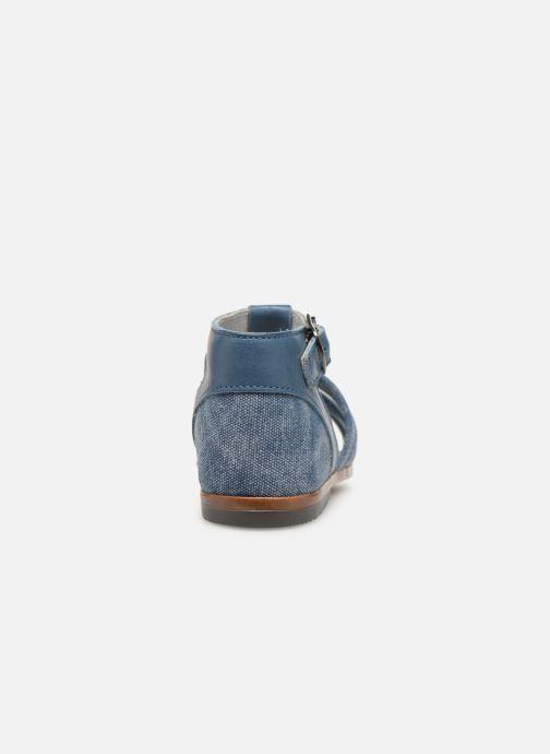 Sandales et nu-pieds Little Mary Delta Bleu vue droite
